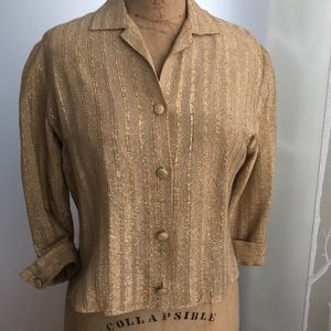 Tops - Blouse -gold lame -